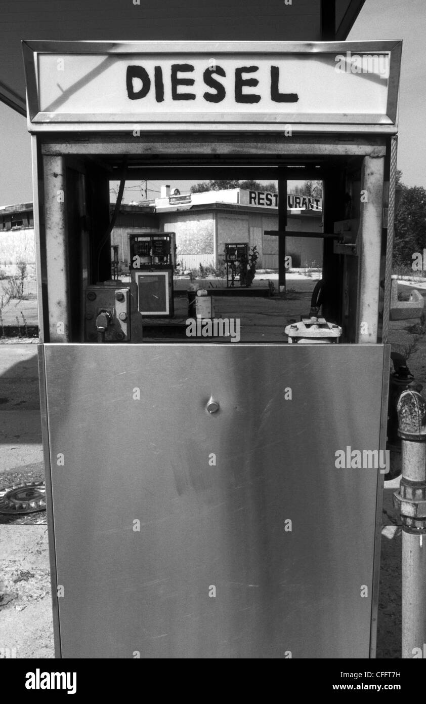 Diesel Pump At Abandoned Gas Station Near Mactier Ontario Stock Photo Alamy