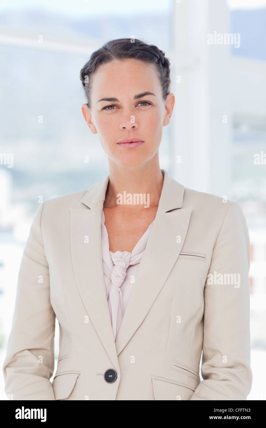 Confident saleswoman - Stock Image