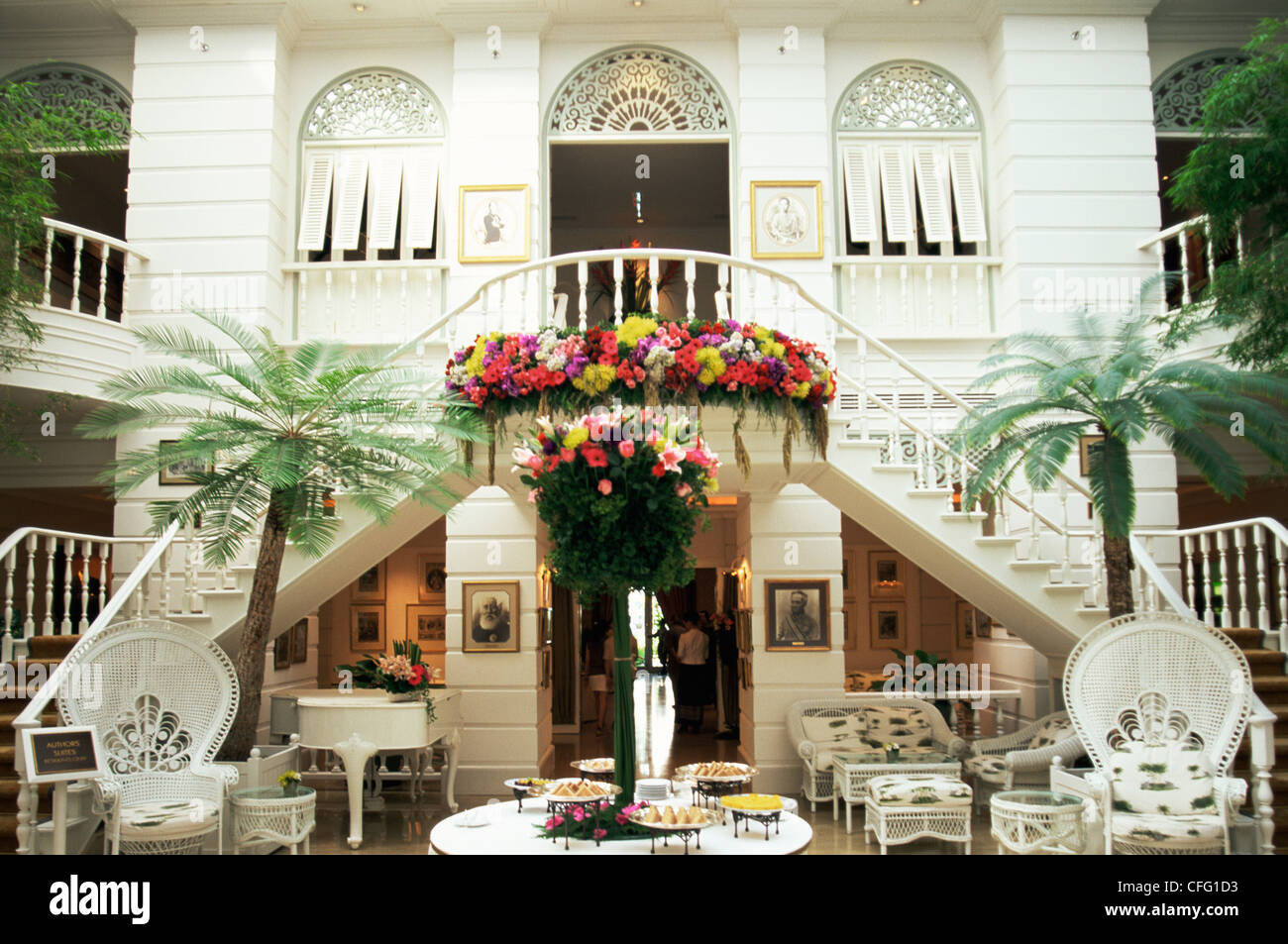 Thailand, Bangkok, Author's Lounge at The Oriental Hotel - Stock Image