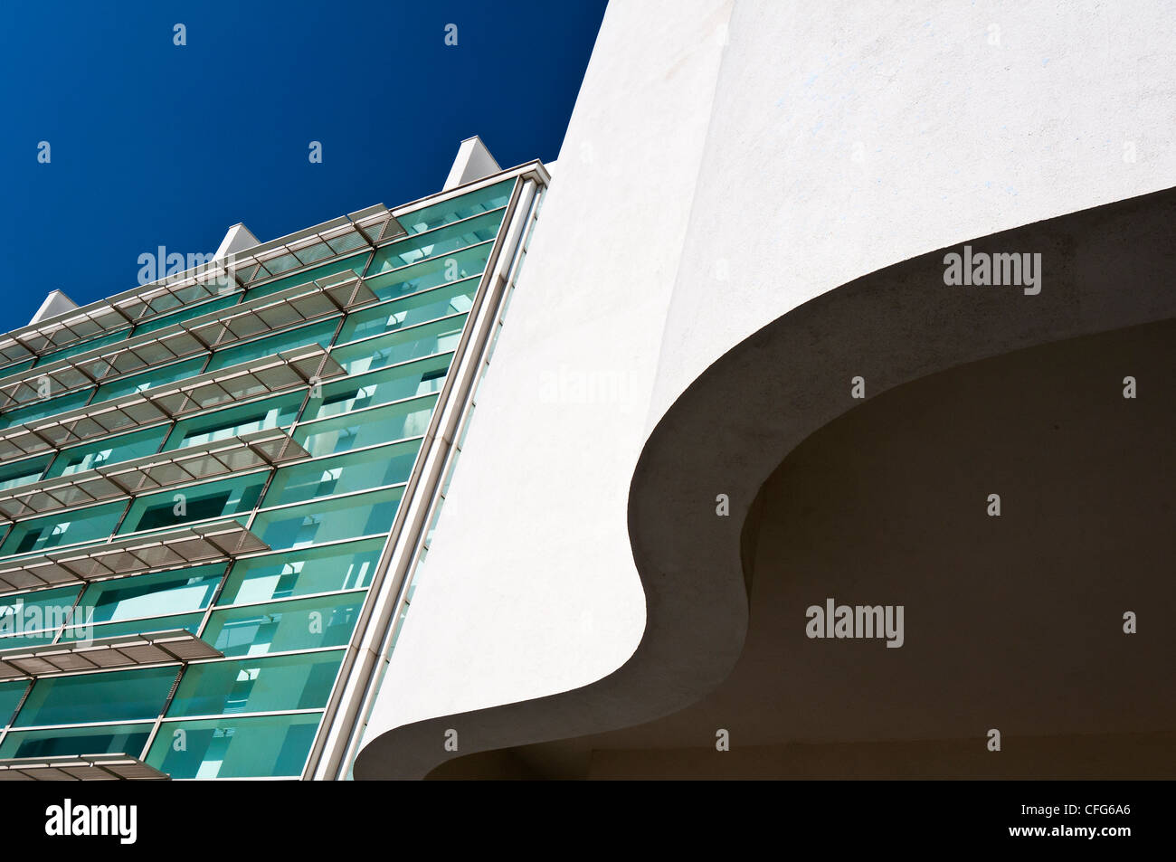 Barcelona Museum of Contemporary Art (MACBA), Barcelona, Catalonia, Spain - Stock Image