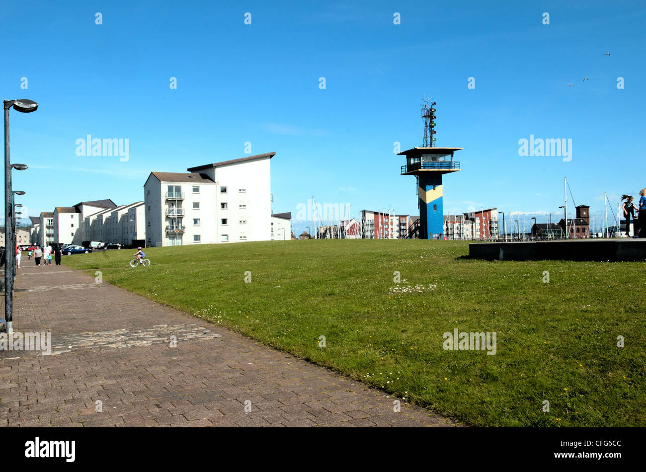 ardrossan north ayrshire mariners view - Stock Image