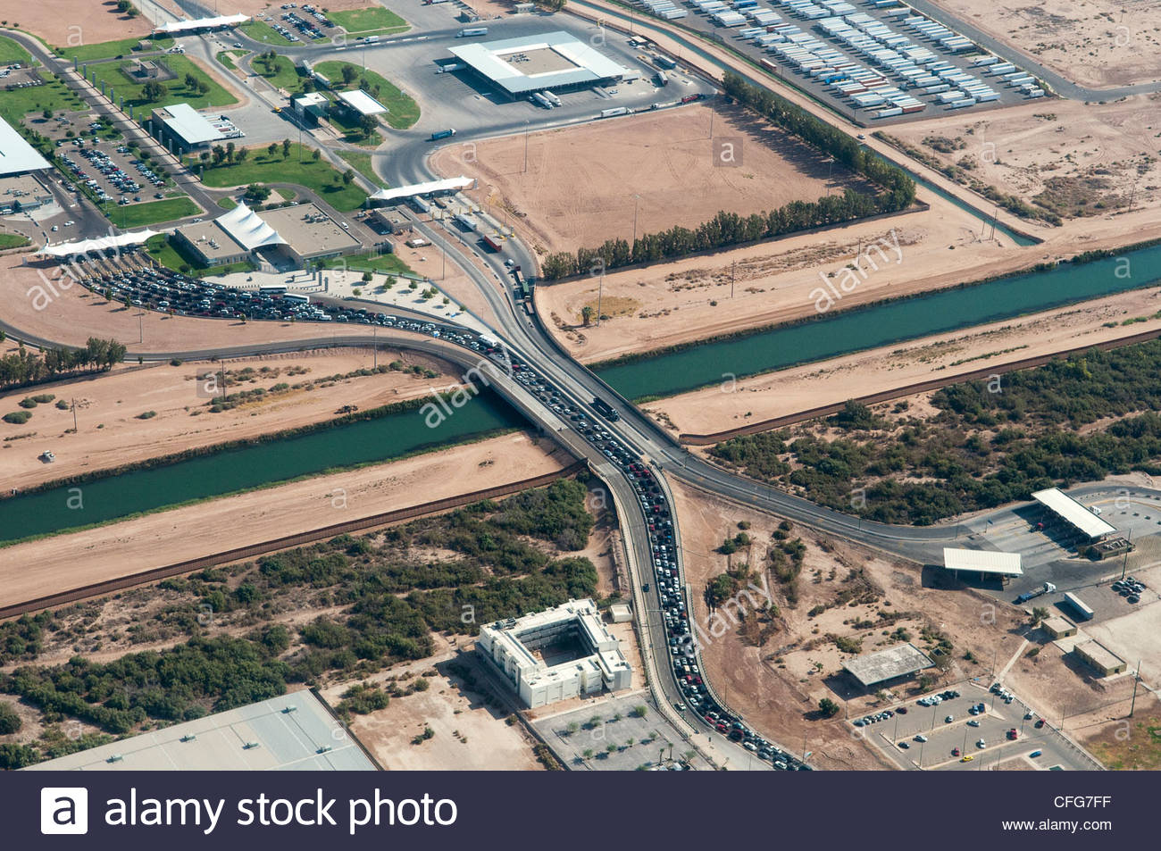 Border Crossing Mexico Traffic Stock Photos Border Crossing Mexico