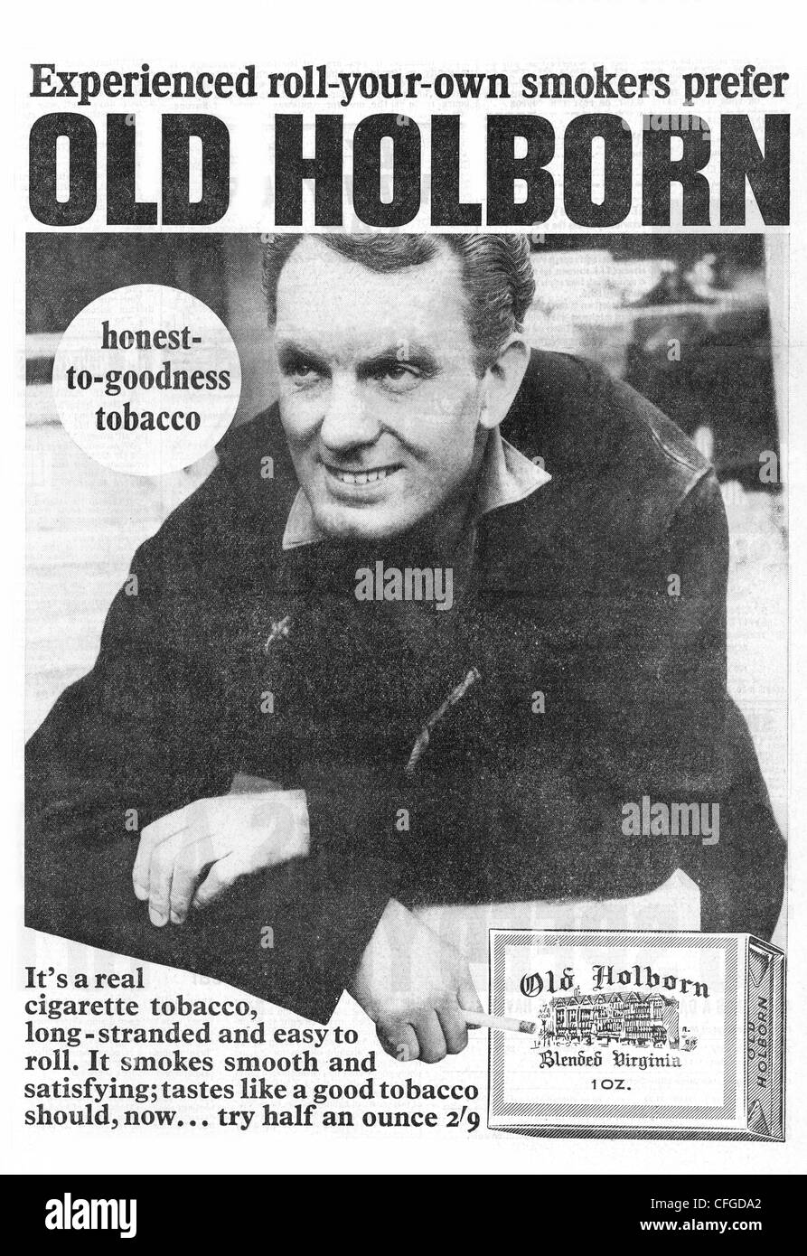 Old Holborn tobacco advert from 1965 - Stock Image