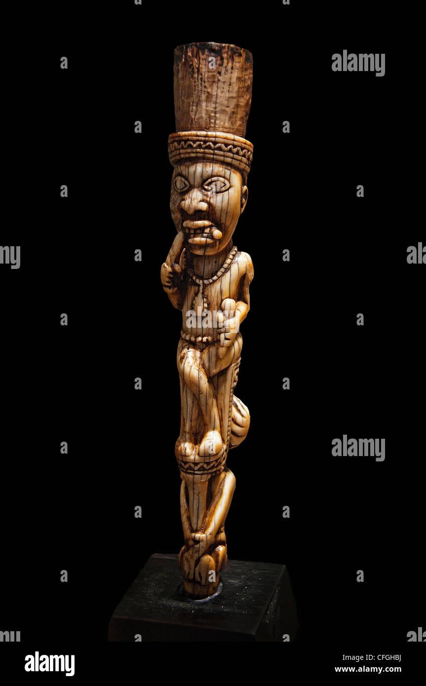 Democratic Republic of Congo Sculpture Yombe 19 Century African - Stock Image