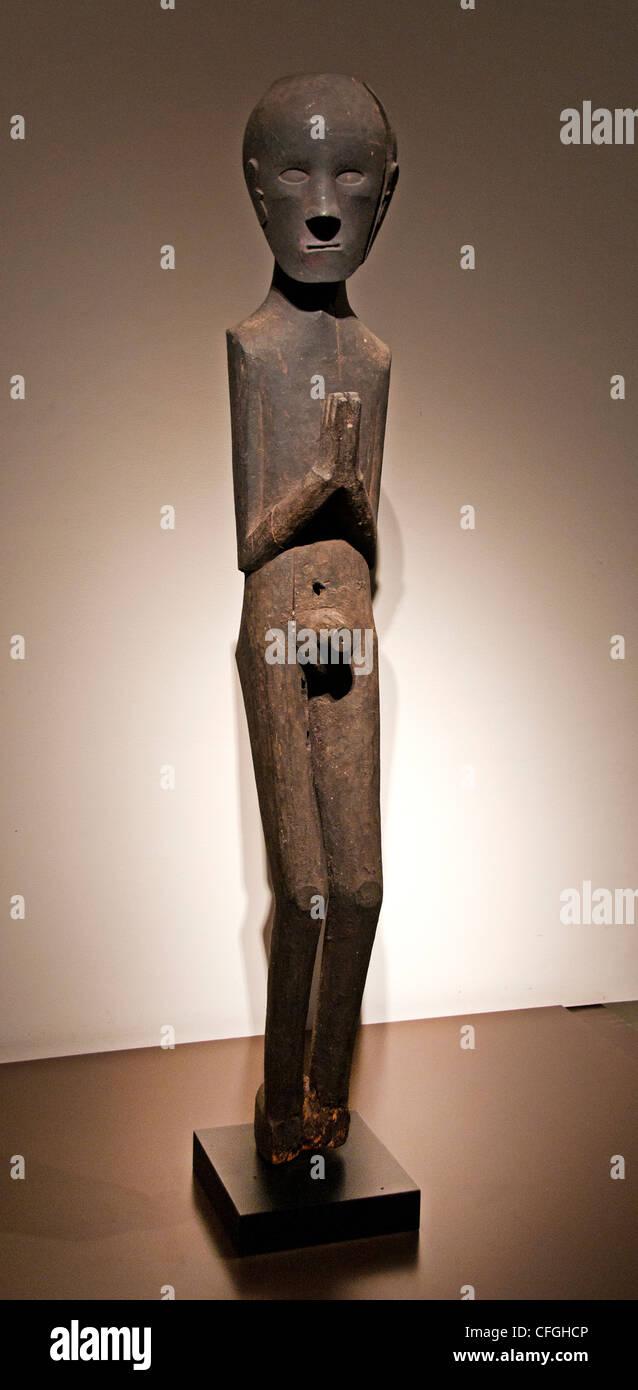 Toba Batak sculpture middle 19 century Western North Sumatra Indonesia - Stock Image