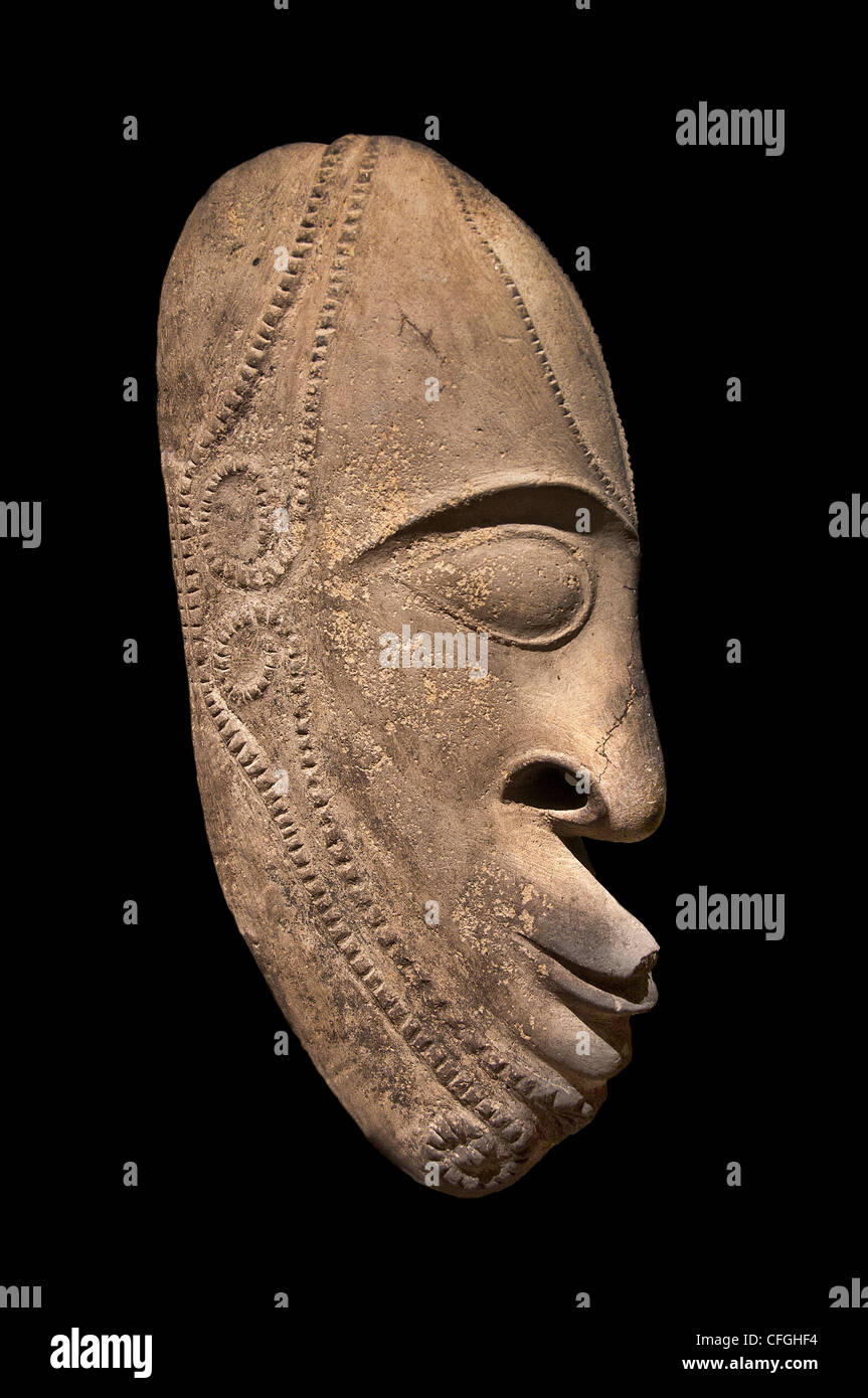 Mask Vanuta north to the island of Ambrym 18 Century Solomon Islands - Stock Image