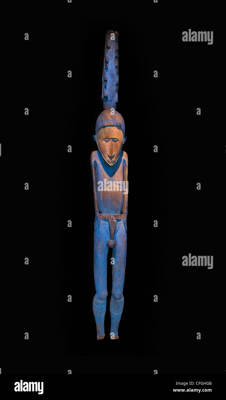 Malo Island tall male Figure Sakavas Vanatu 19 th Cent Oceania - Stock Image