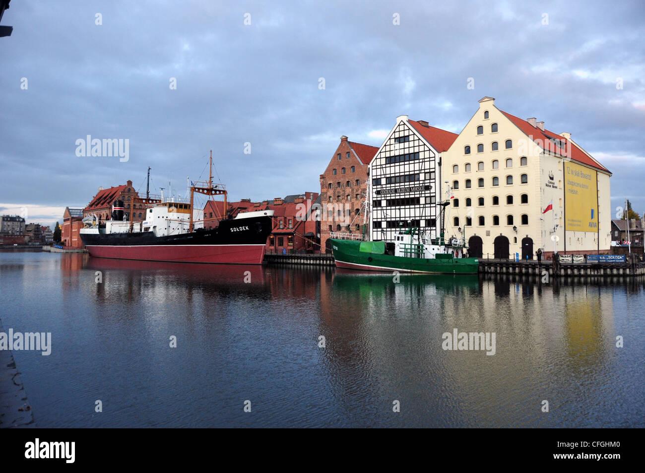 HORBOUR SCENE GDANSK POLAND  EASTERN EUROPE - Stock Image