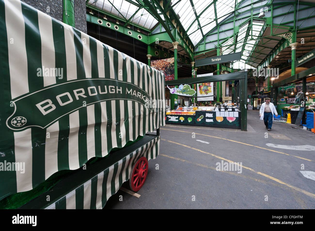 Stall or barrow at Borough Market London UK - Stock Image