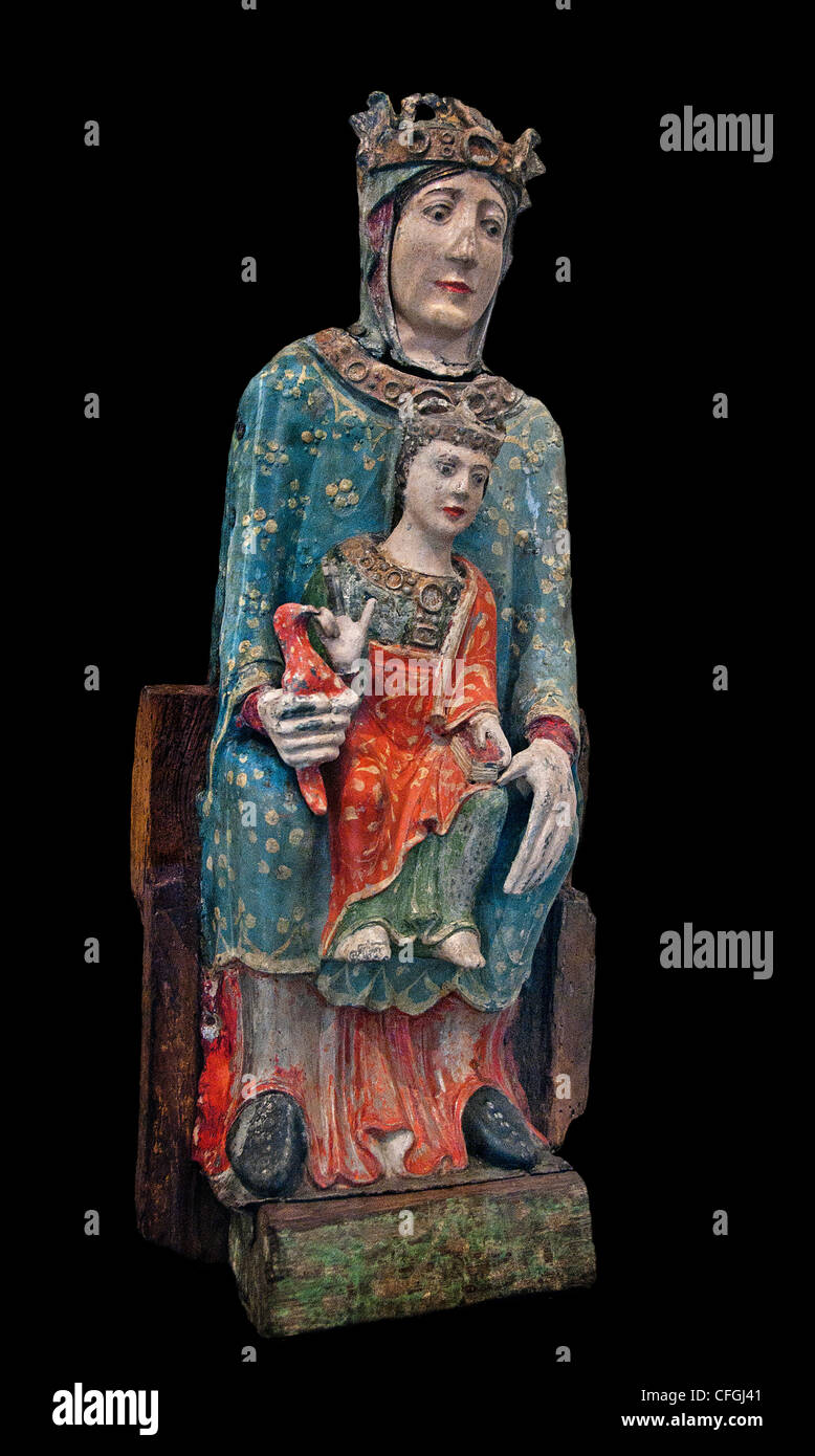 Virgin in Majesty -  Notre-Dame de Baroilles  Central France early thirteenth century French - Stock Image