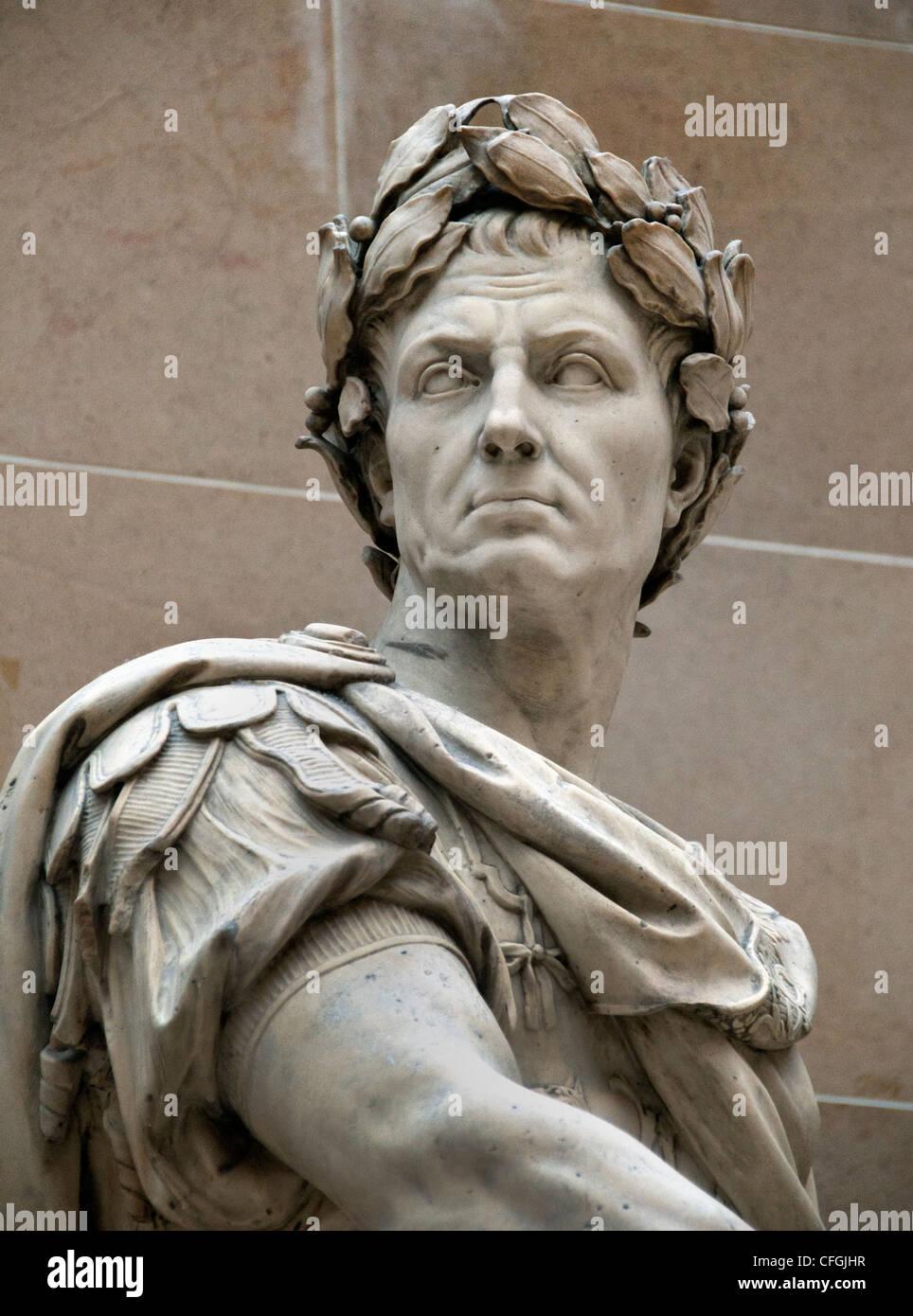 Gaius Julius Caesar 100  – 44 BC Roman emperor general statesman by Nicolas Coustou 1658–1733 - Stock Image