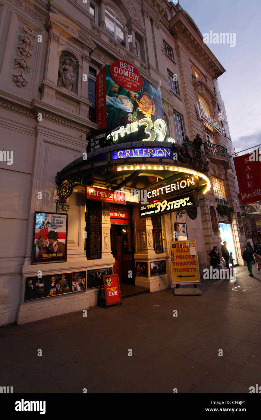The 39 Steps at the Criterion Theatre at Piccadily Circus in the West End of London - Stock Image