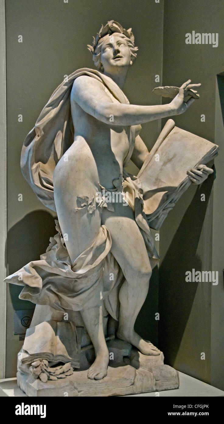 Poetry - La Poesie 1752 By Lambert Sigisbert Adam France French - Stock Image