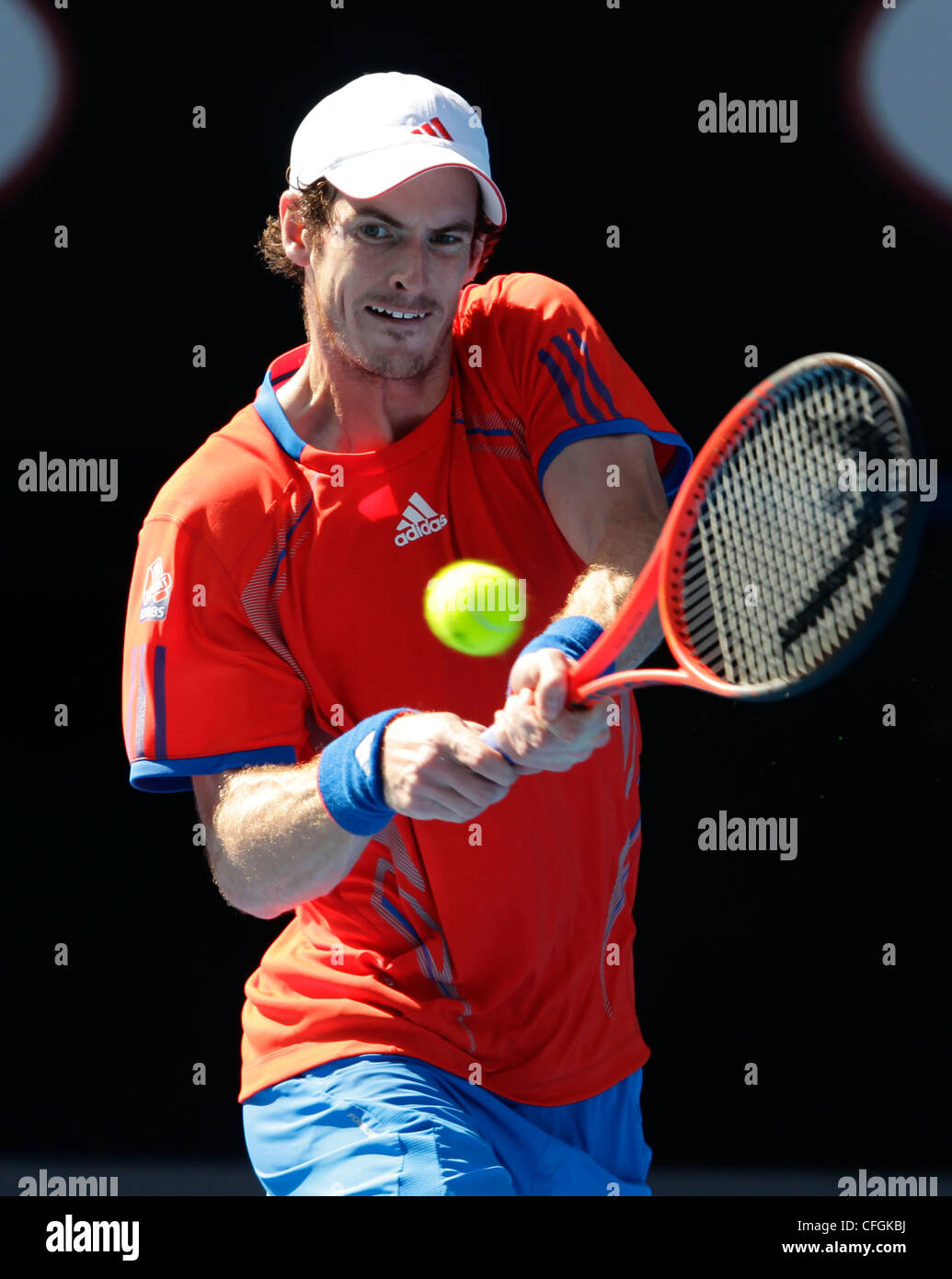 Andy Murray (GBR) at the Australian Open 2012, ITF Grand Slam Tennis Tournament, Melbourne Park,Australia. - Stock Image
