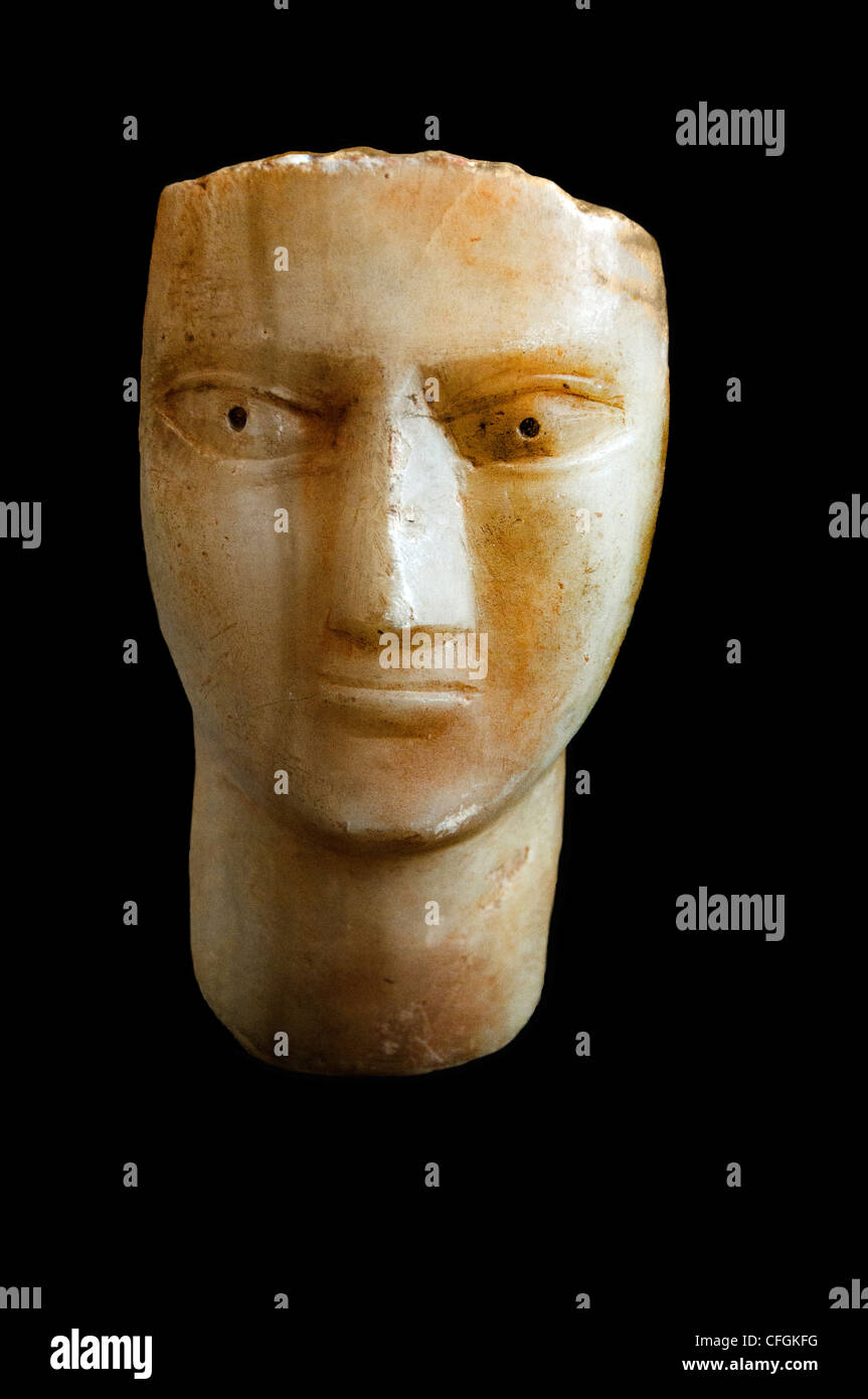 Head mythical Arabia Felix Yemen kingdom - Stock Image