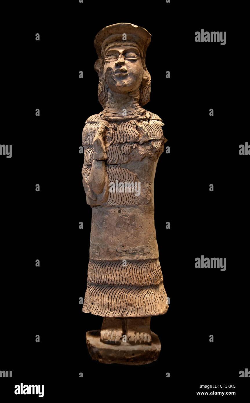 Goddess figurine Lama Susa SUMERIAN Simashki Sukkalmah Dynasties Mesopotamia Persia - Stock Image