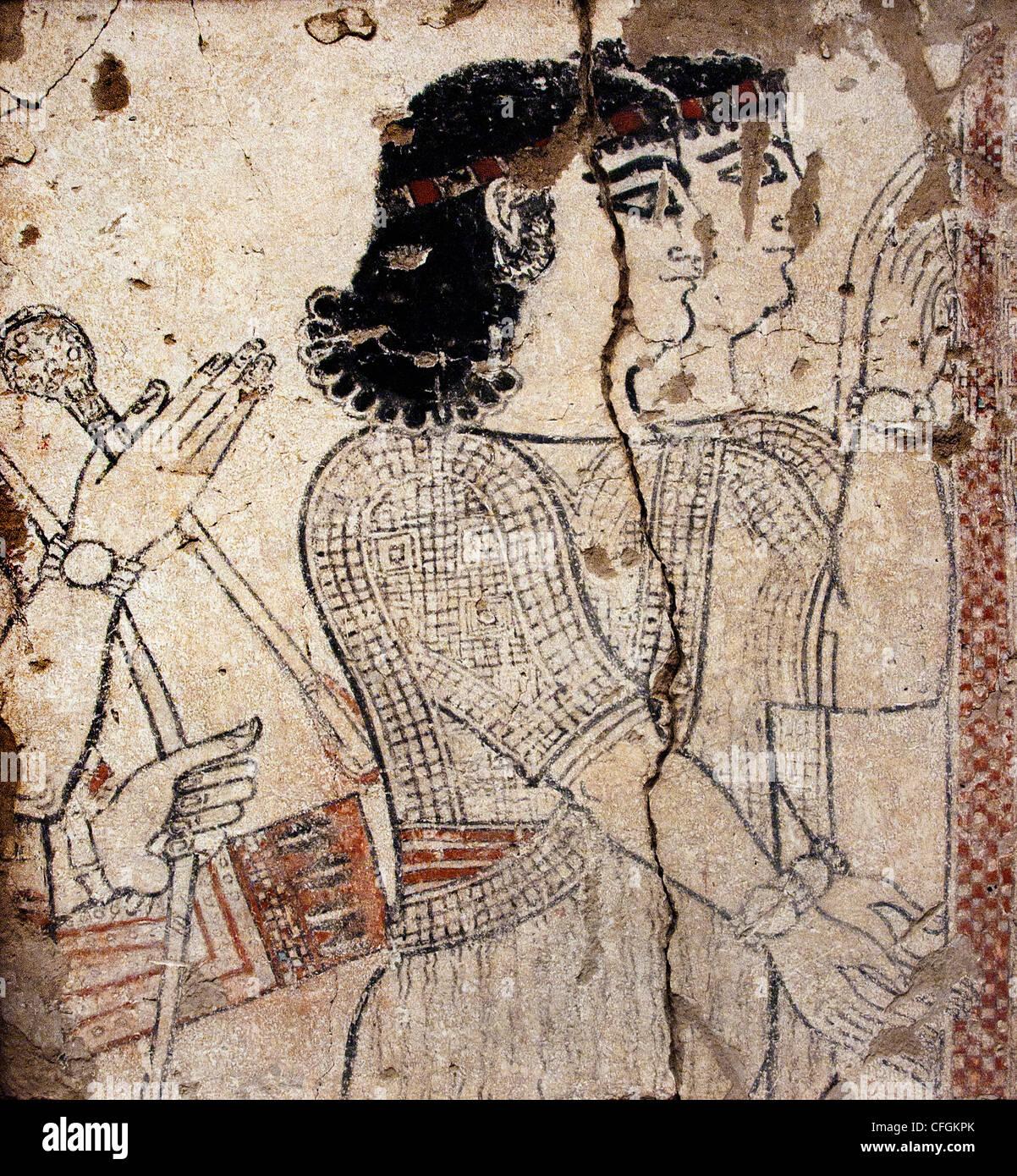 Servants Royal Palace of Nimrud Tiglath Pileser III Century BC 8  Assyrian city Iraq - Stock Image