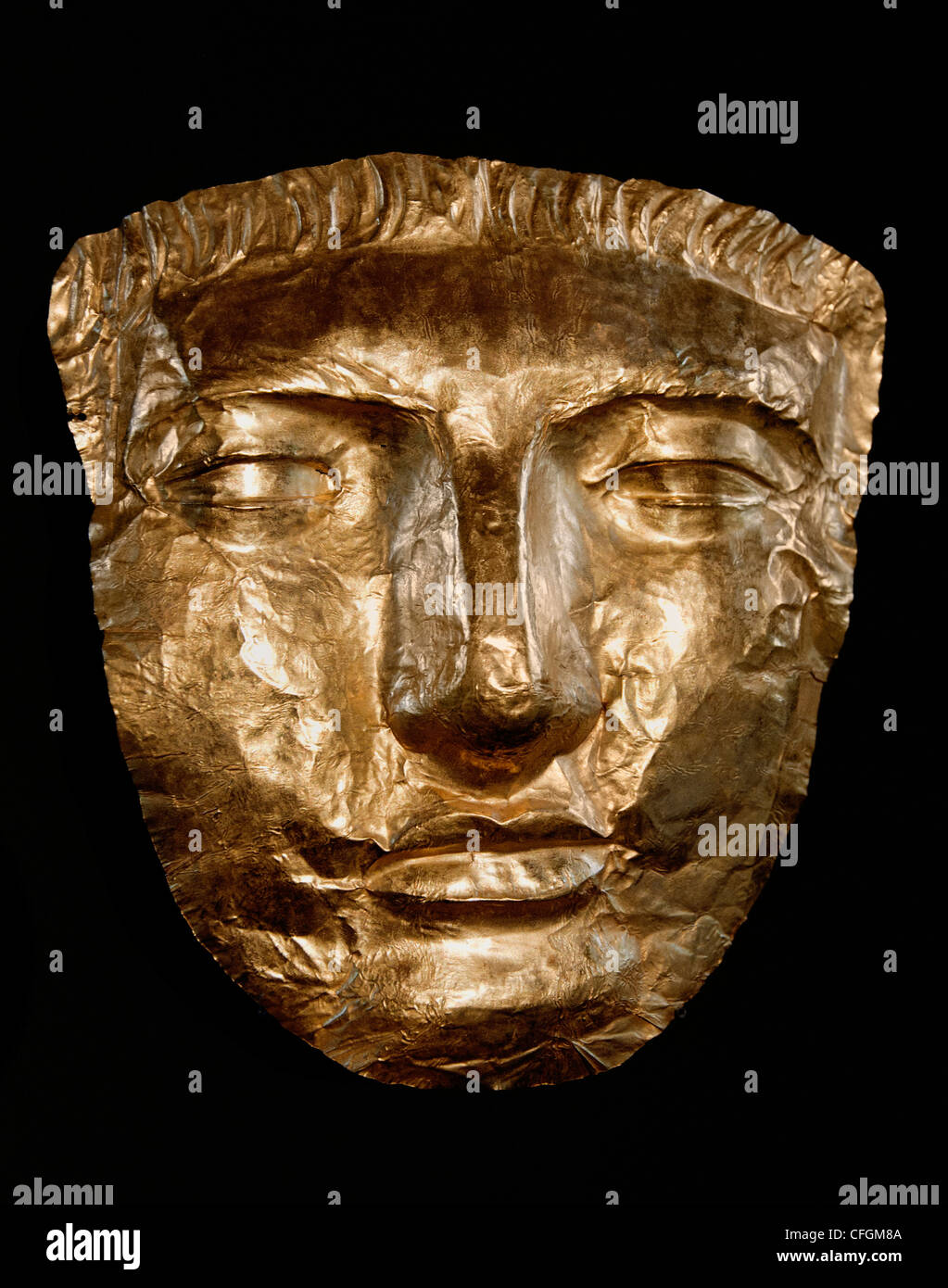 death mask gold  Phoenicia Phoenicians Persian period  Fifth-fourth century  BC - Stock Image