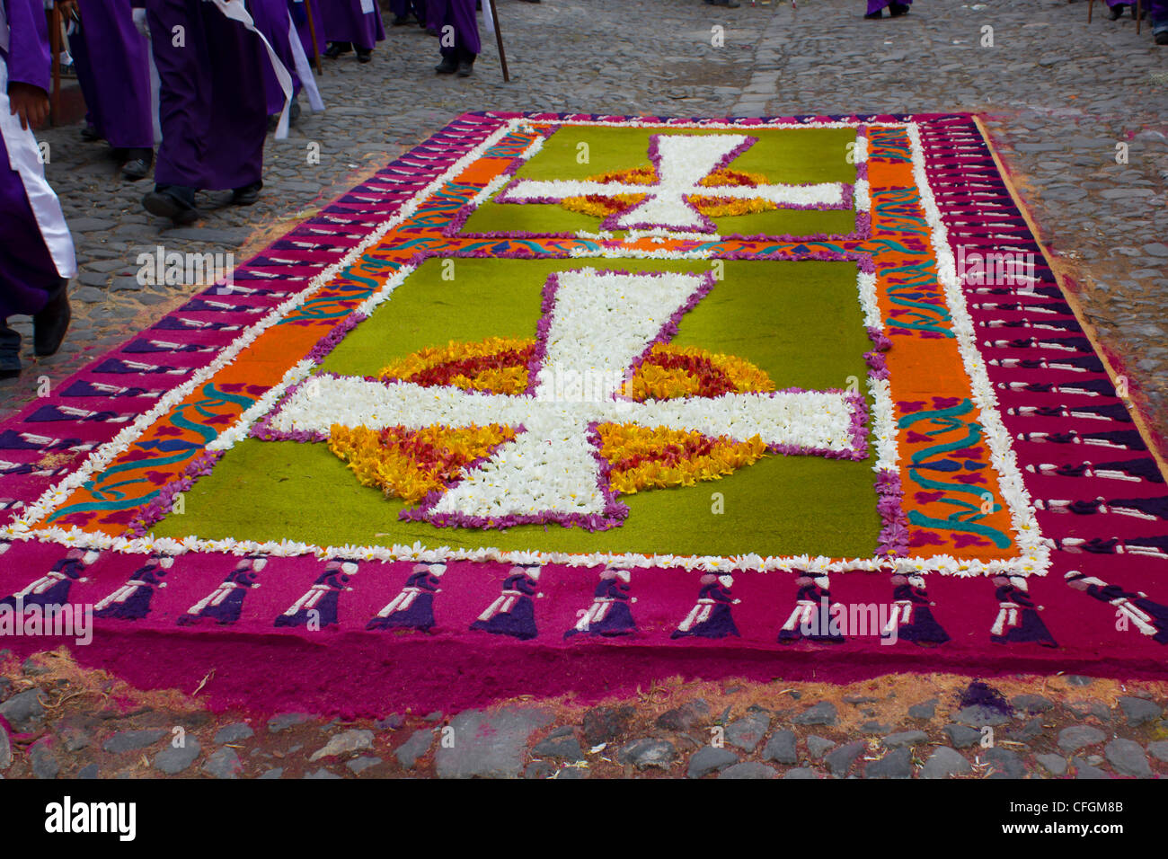 Colorful Carpet - Stock Image