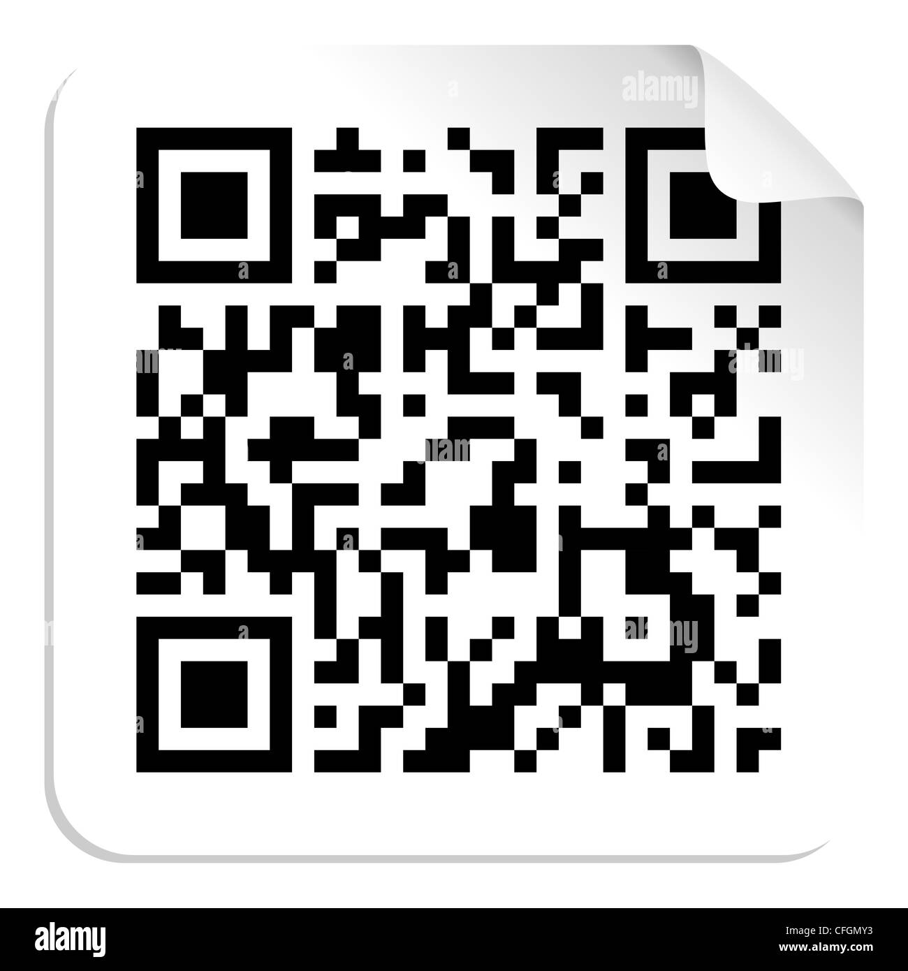 Technology QR code label concept. Vector file available. - Stock Image
