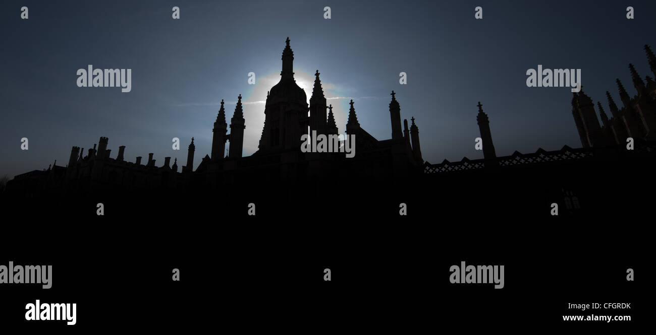 Kings College Roof Cambridge University - Stock Image