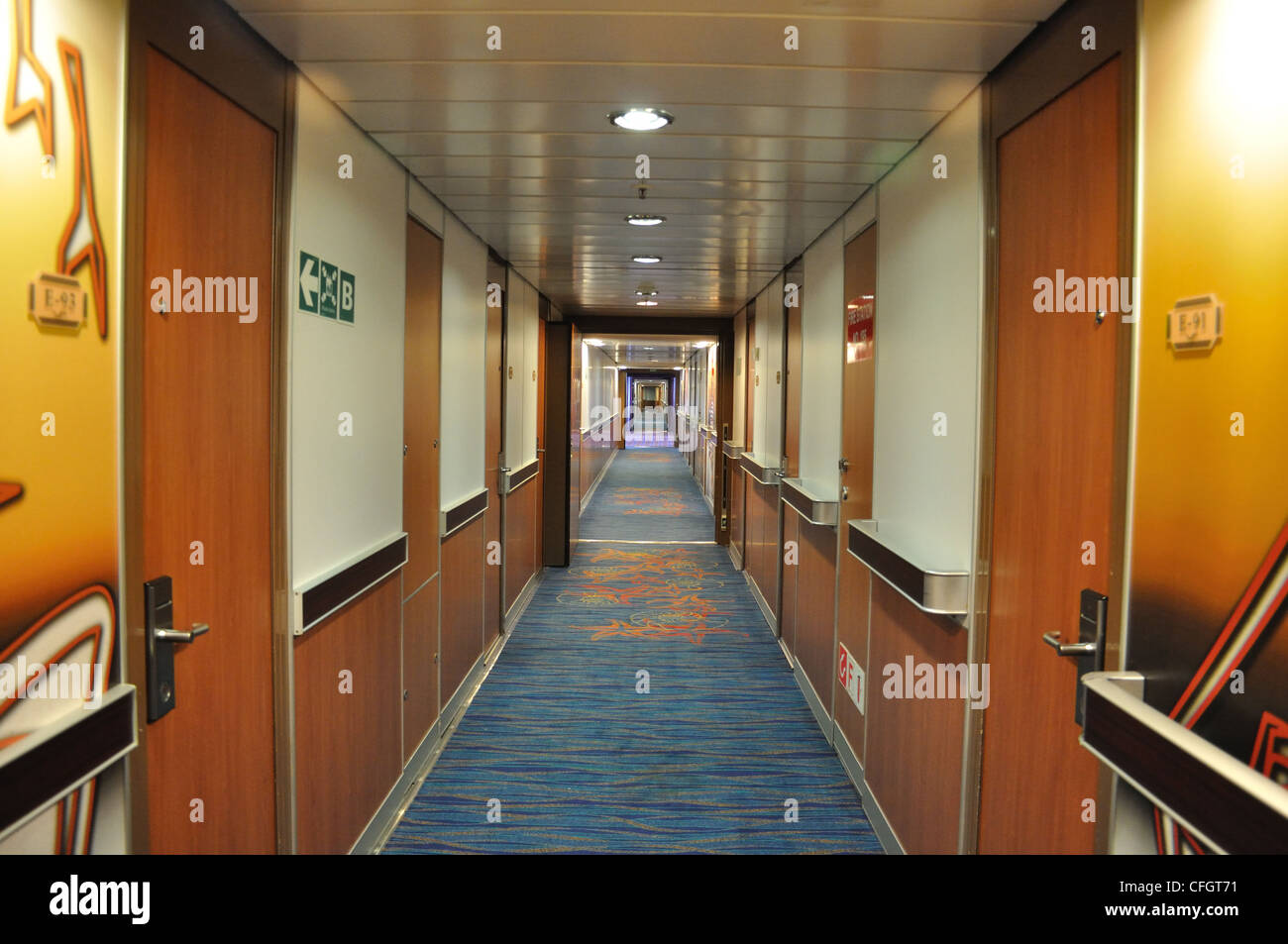 Cruise Ship Cabin Doors Stock Photo 44010821 Alamy
