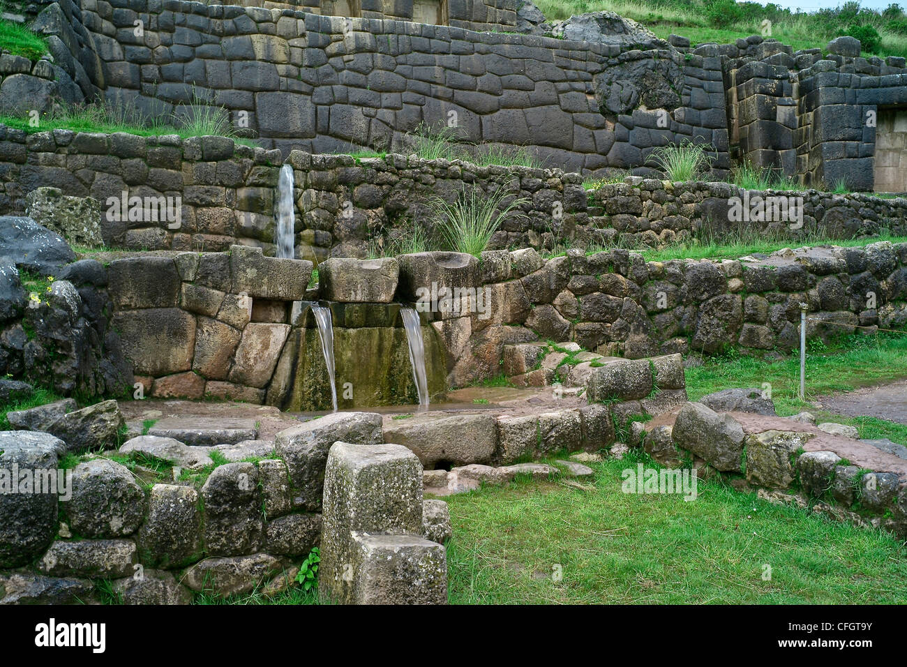Tampumachay, an archaeological site associated with the Inca Empire. Stock Photo
