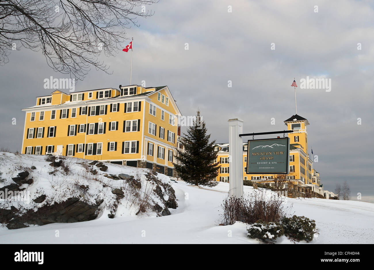 A Winter View Of The Mountain View Grand Resort And Spa A Historic