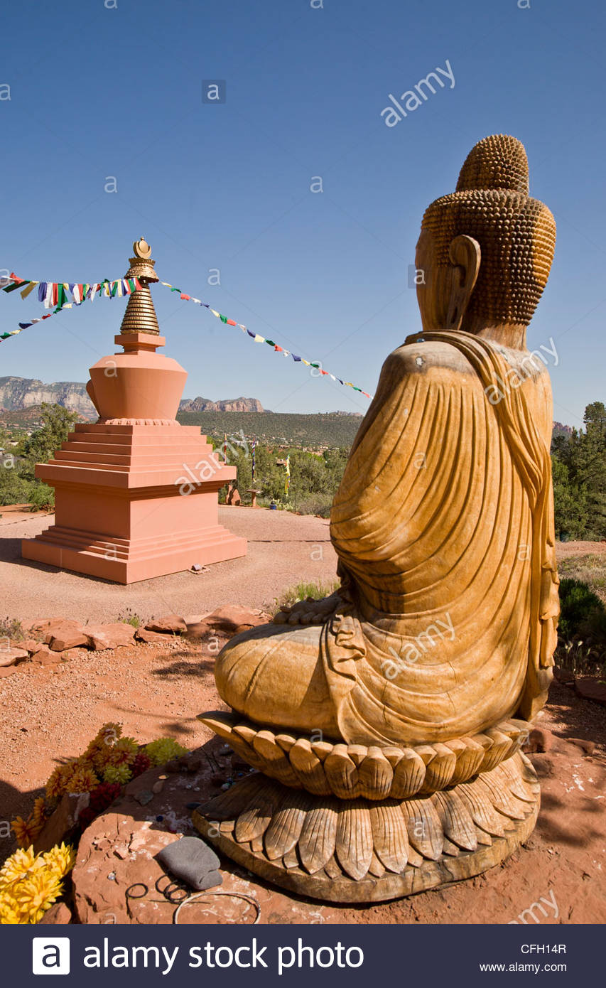 sacred relics associated with the Buddha or other saintly persons at a vortex site in sedona Stock Photo