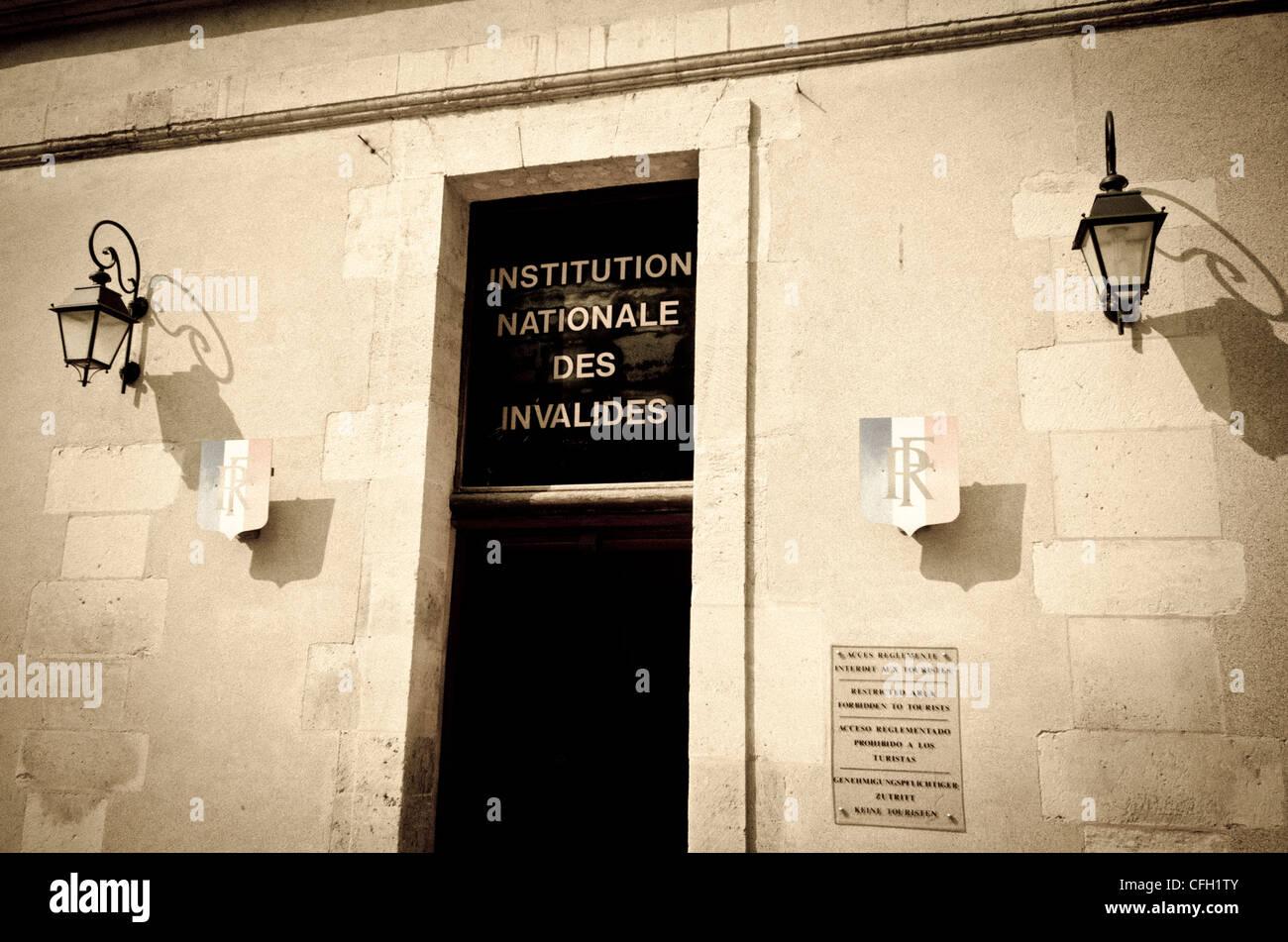 Entrance station at Les Invalides, Paris, France - Stock Image