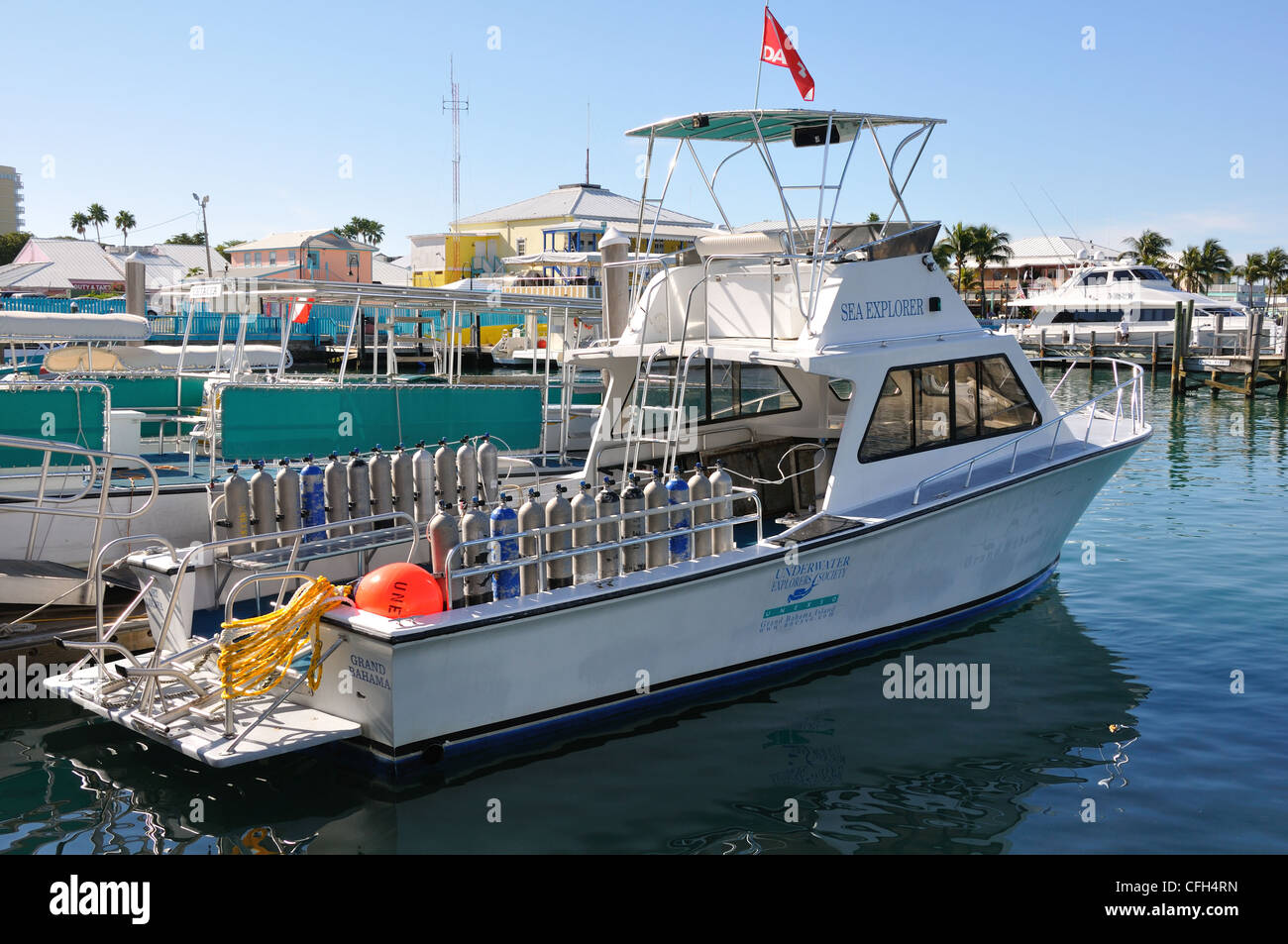 Marina, Freeport, Bahamas - Stock Image