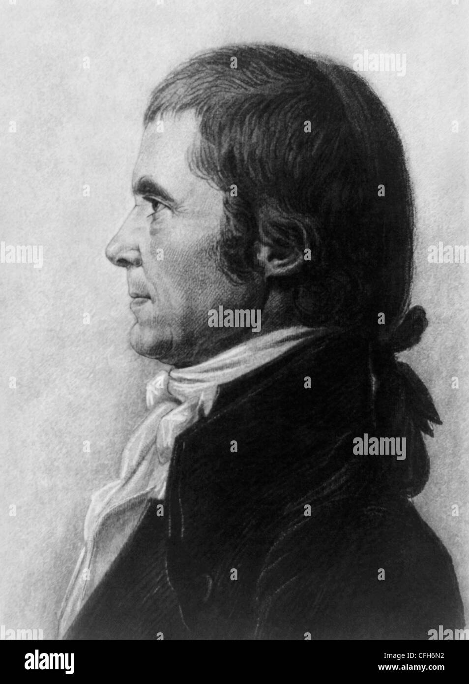 Vintage portrait print of American statesman and judge John Marshall (1755 - 1835) - the fourth US Chief Justice Stock Photo