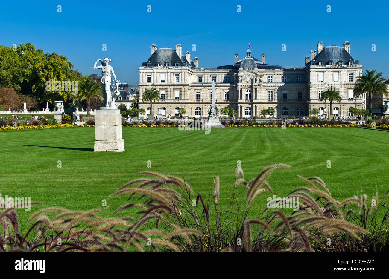 France, Paris, 6th arrondissement, Palais du Luxembourg or Senate - Stock Image