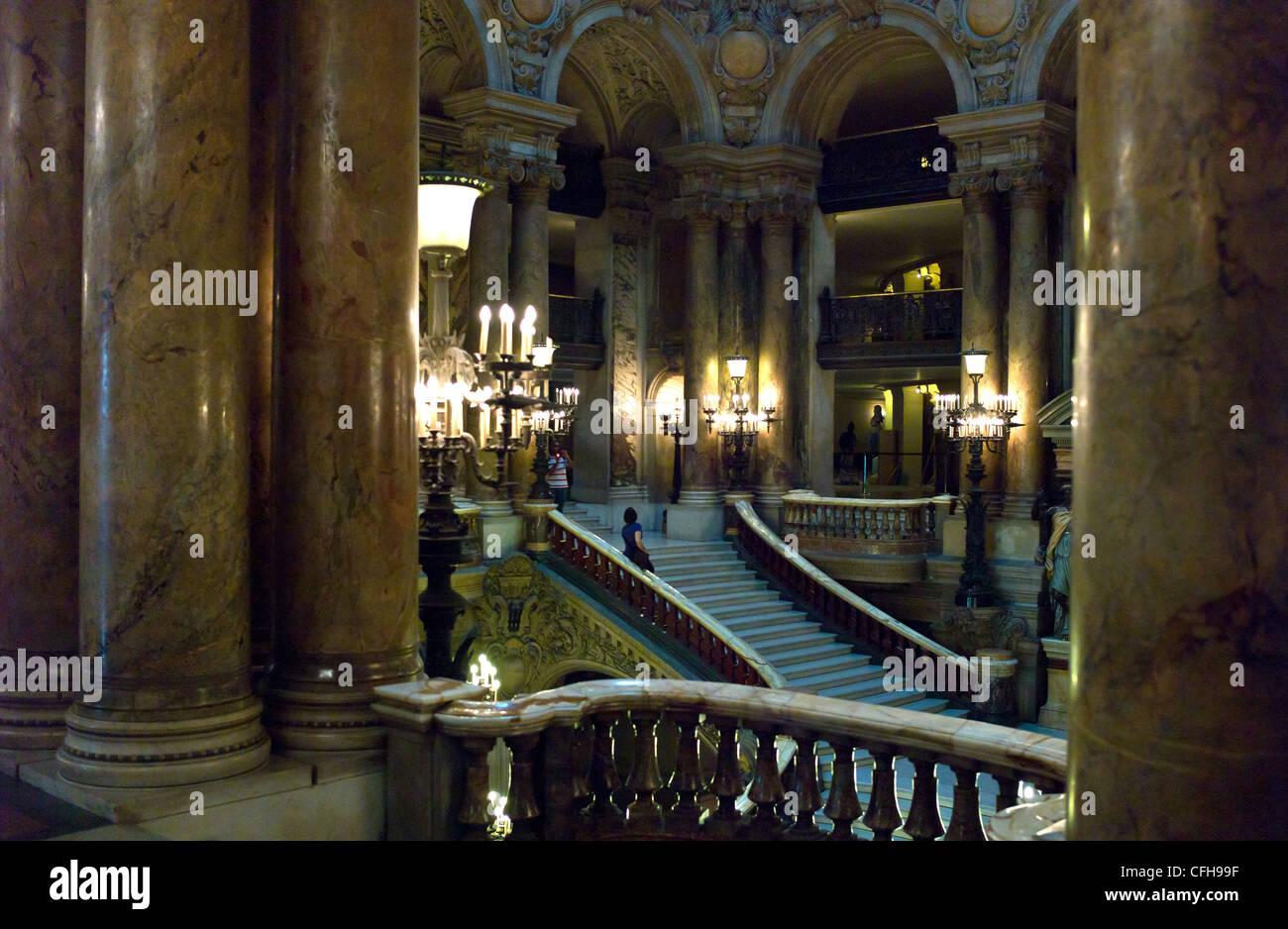 rance, Paris, the foyer of the Opéra Palais Garnier - Stock Image