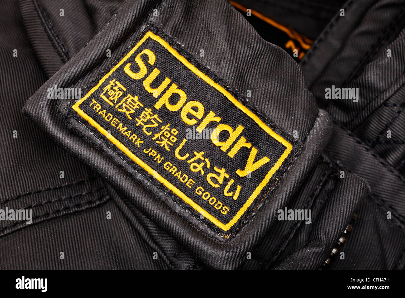 Superdry clothes brand label - Stock Image