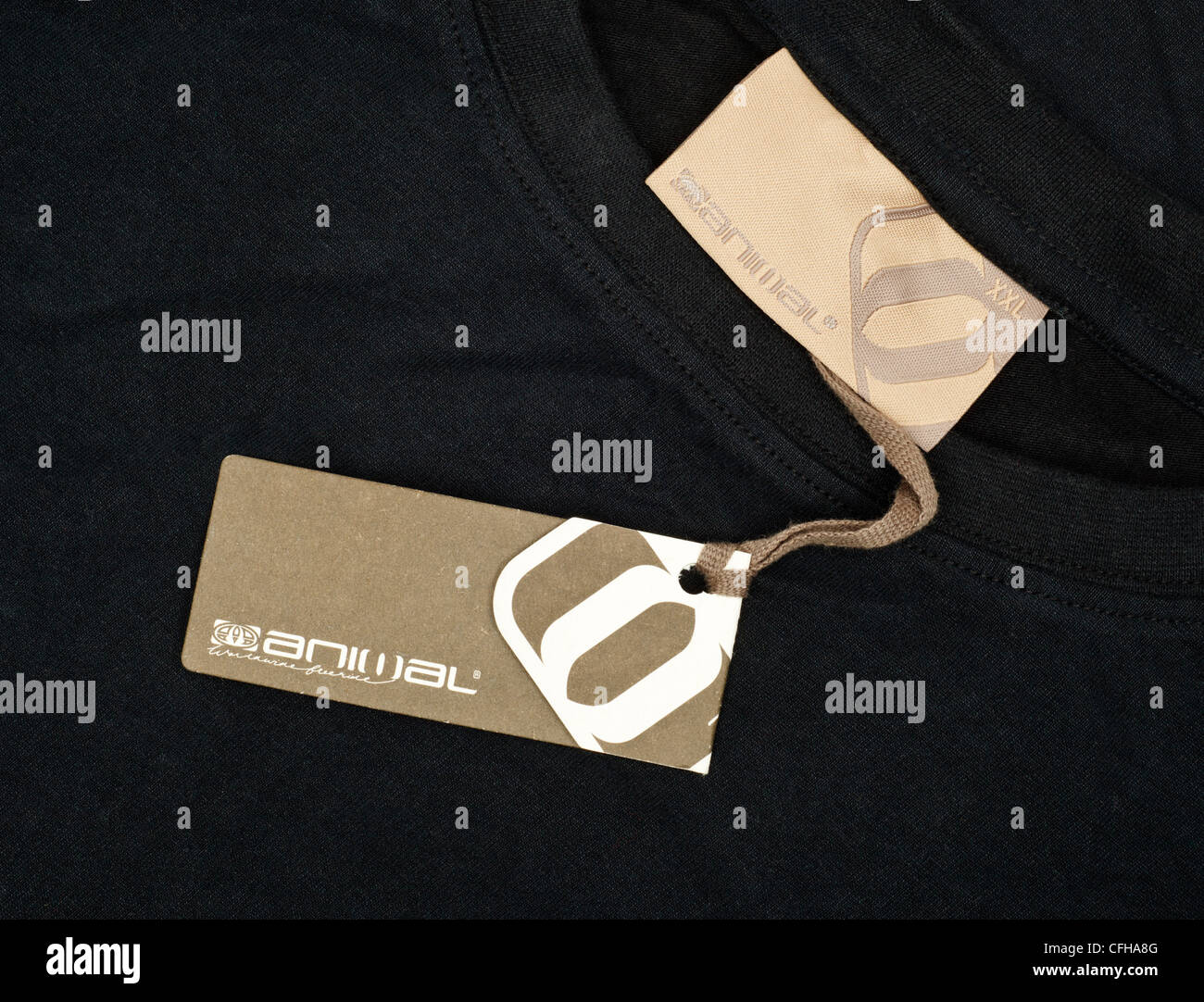 Animal clothing brand logo and label - Stock Image