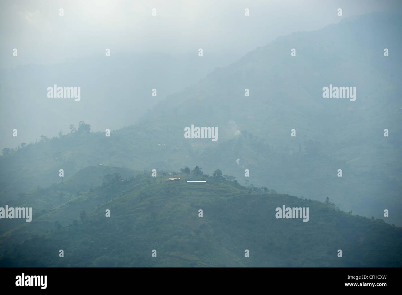 Rwenzori Mountains in Bundibugyo, western Uganda. - Stock Image