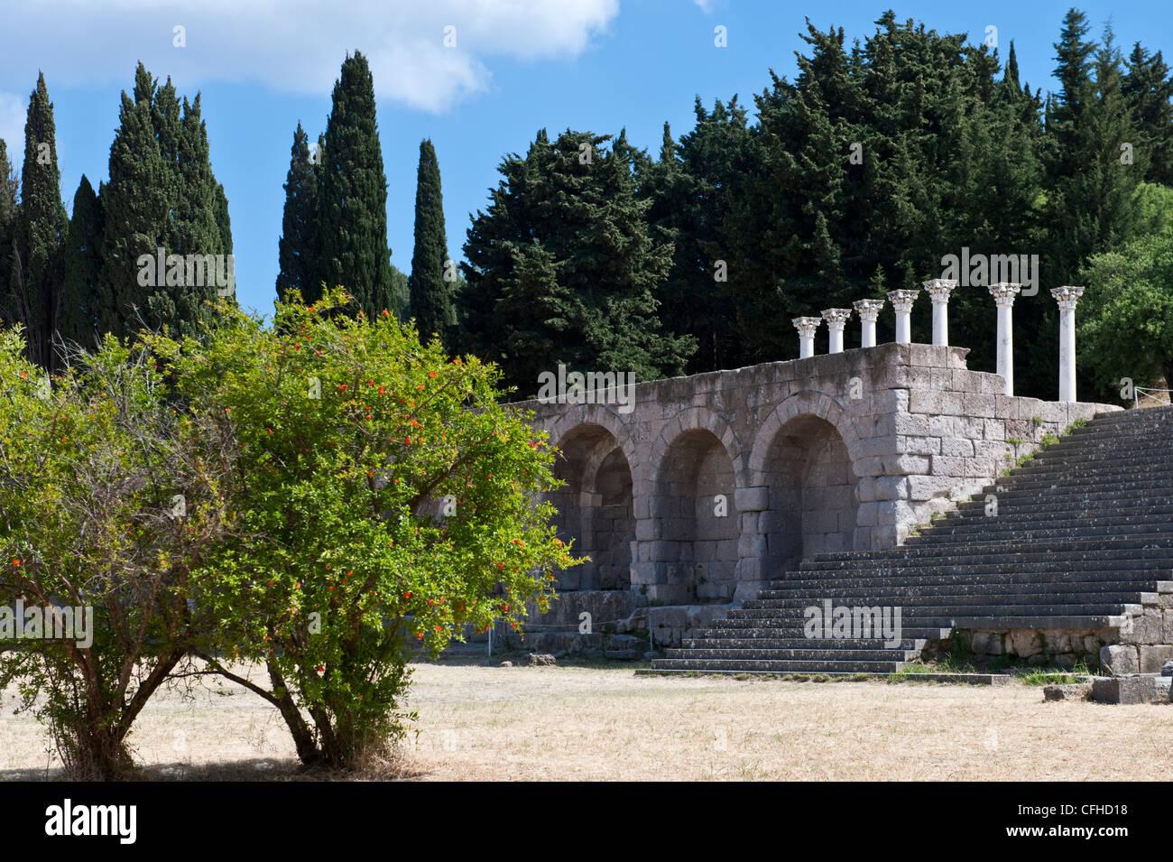 Greece, Dodecanese, Kos, the Asclepieion archaelogical site - Stock Image