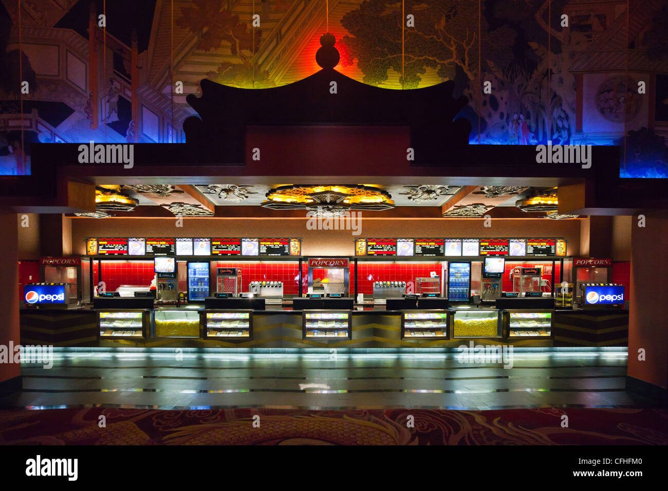 USA, California, Los Angeles, Hollywood, Grauman's Chinese Theater, the interior - Stock Image