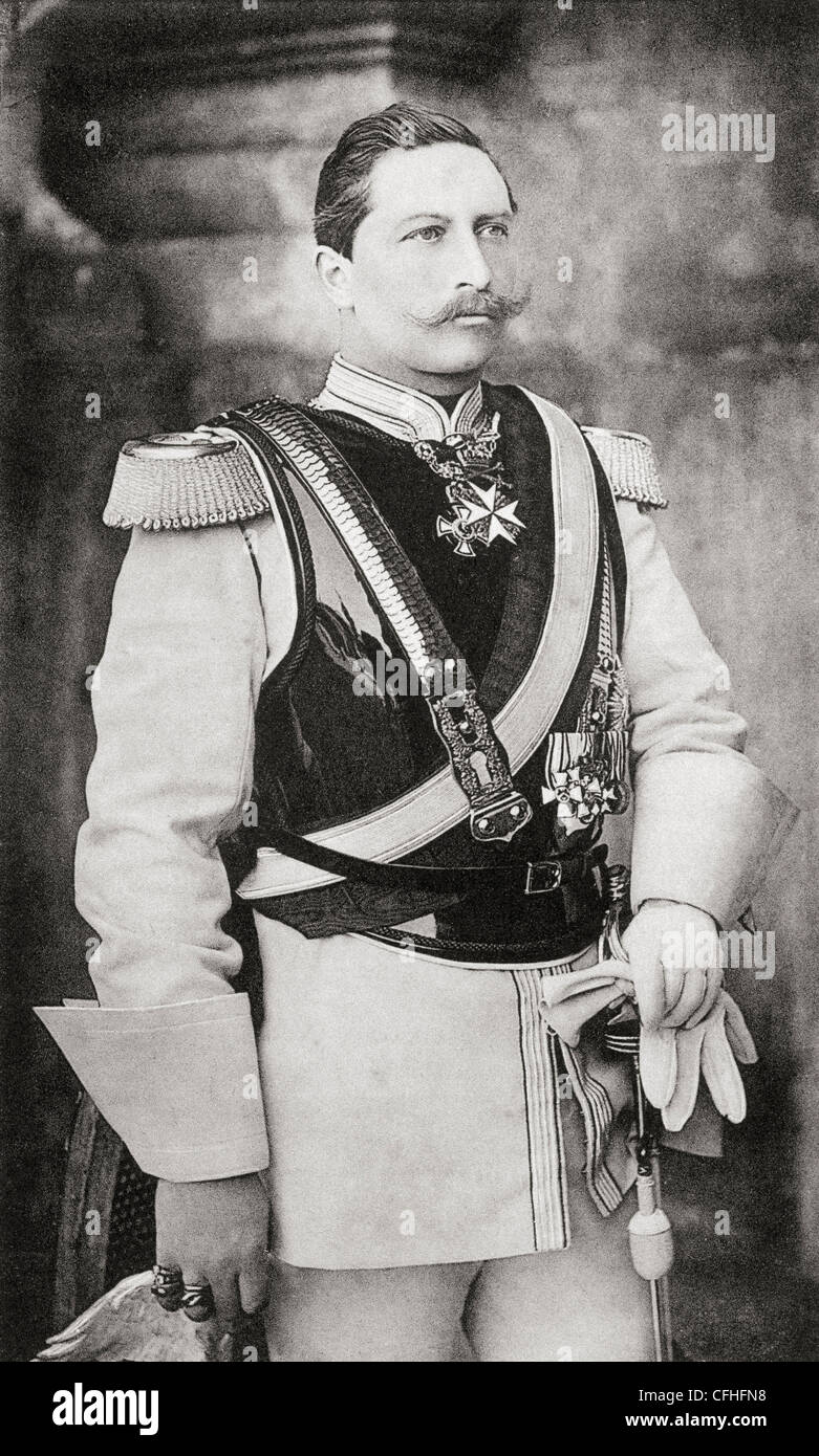 Kaiser Wilhelm II, 1859 – 1941. Last German Emperor and King of Prussia. From Bismarck, The Trilogy of a Fighter - Stock Image