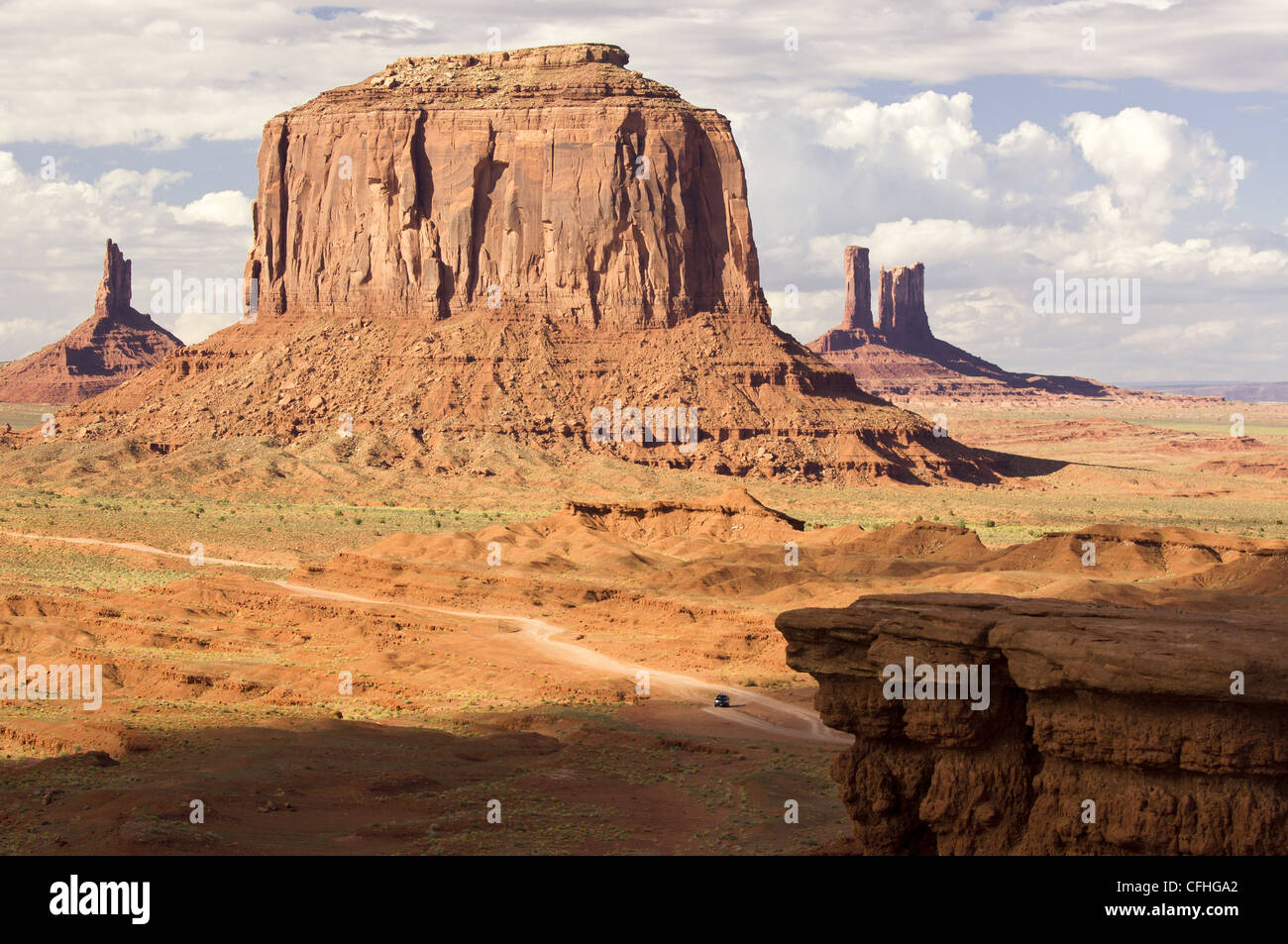 Monument Valley Tribal Park mesas and buttes - Stock Image