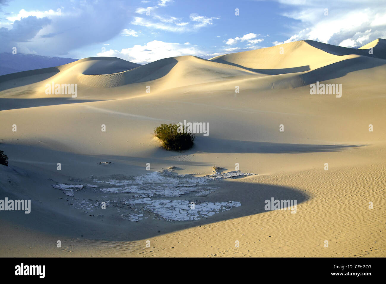 Sand dunes at Death Valley, near Stovepipe Wells, CA, at sunset - Stock Image