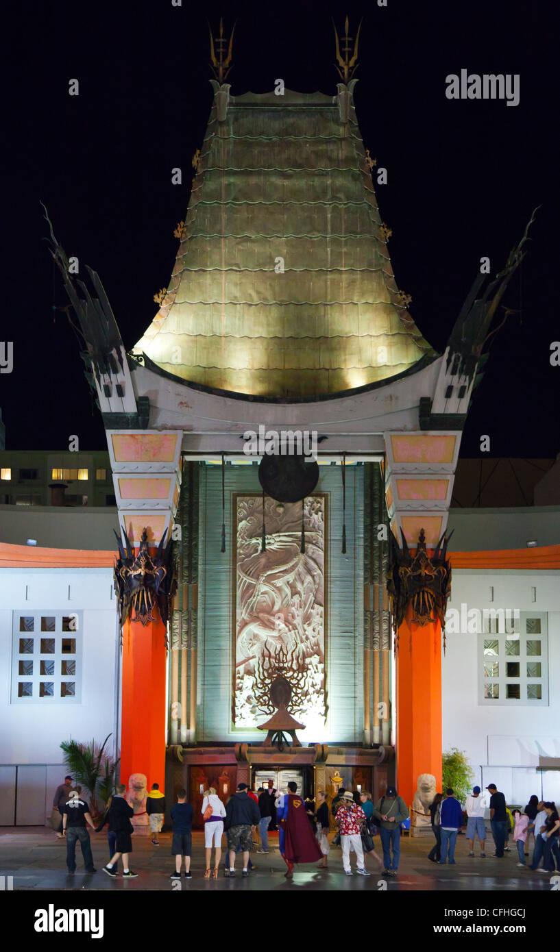 USA, California, Los Angeles, Hollywood, Grauman's Chinese Theater - Stock Image