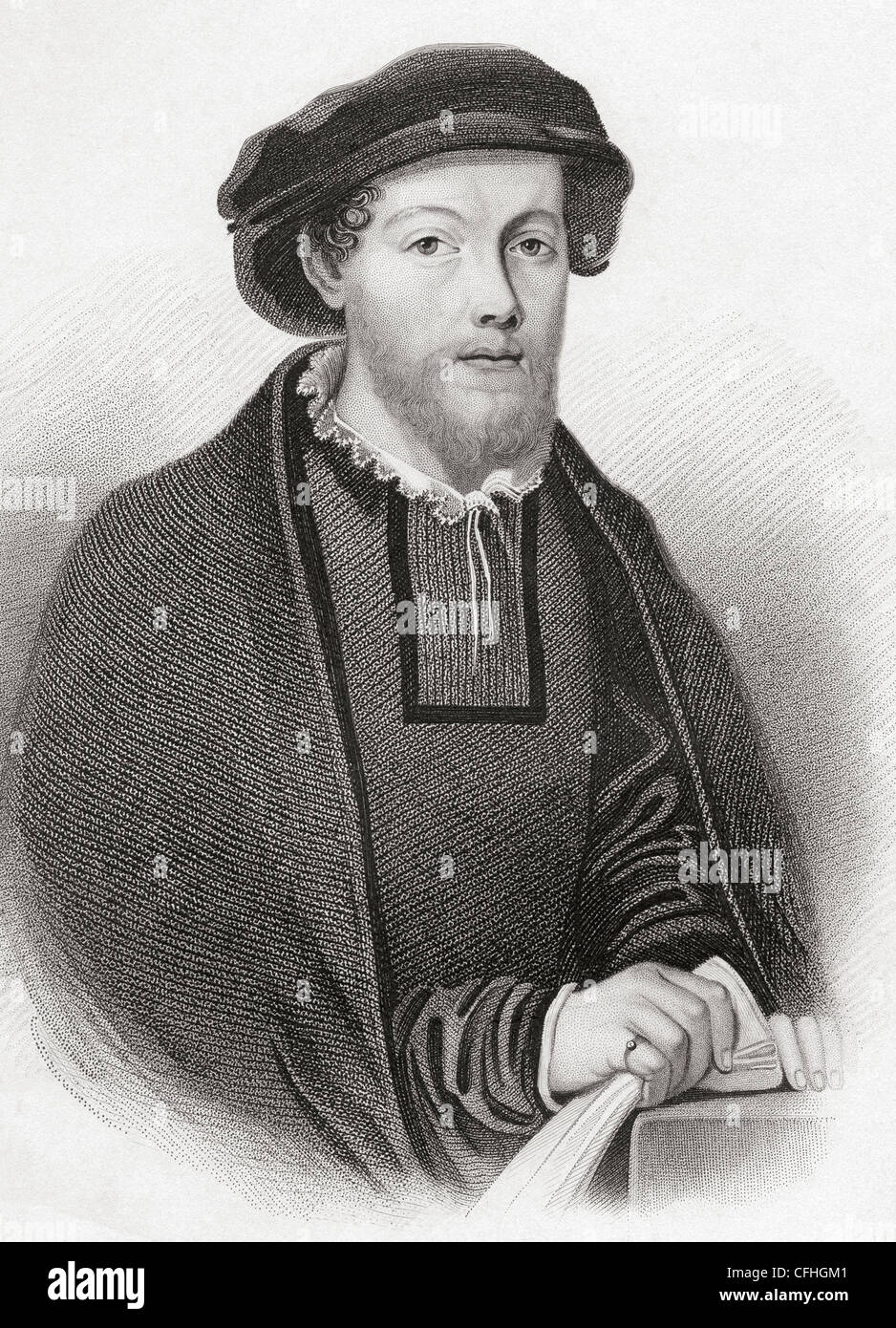 George Wishart 1513 – 1546. Scottish religious reformer and Protestant martyr. - Stock Image