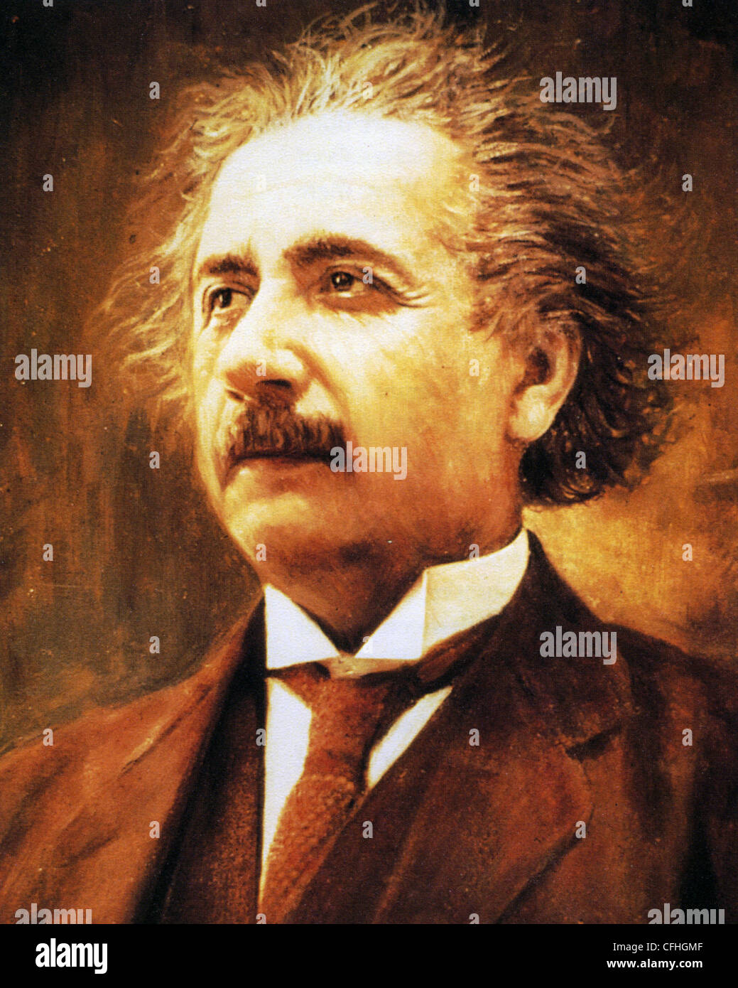 ALBERT EINSTEIN (1879-1955) German-born theoretical physicist - Stock Image