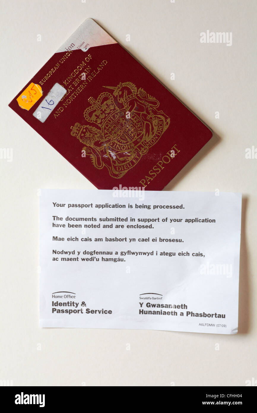 expired passport returned with notice from Home Office Identity ...