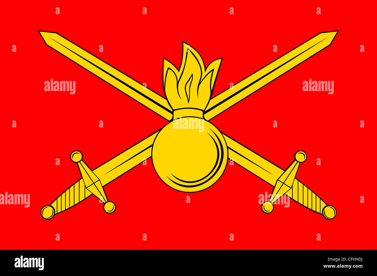 Flag of the Russian army. - Stock Image
