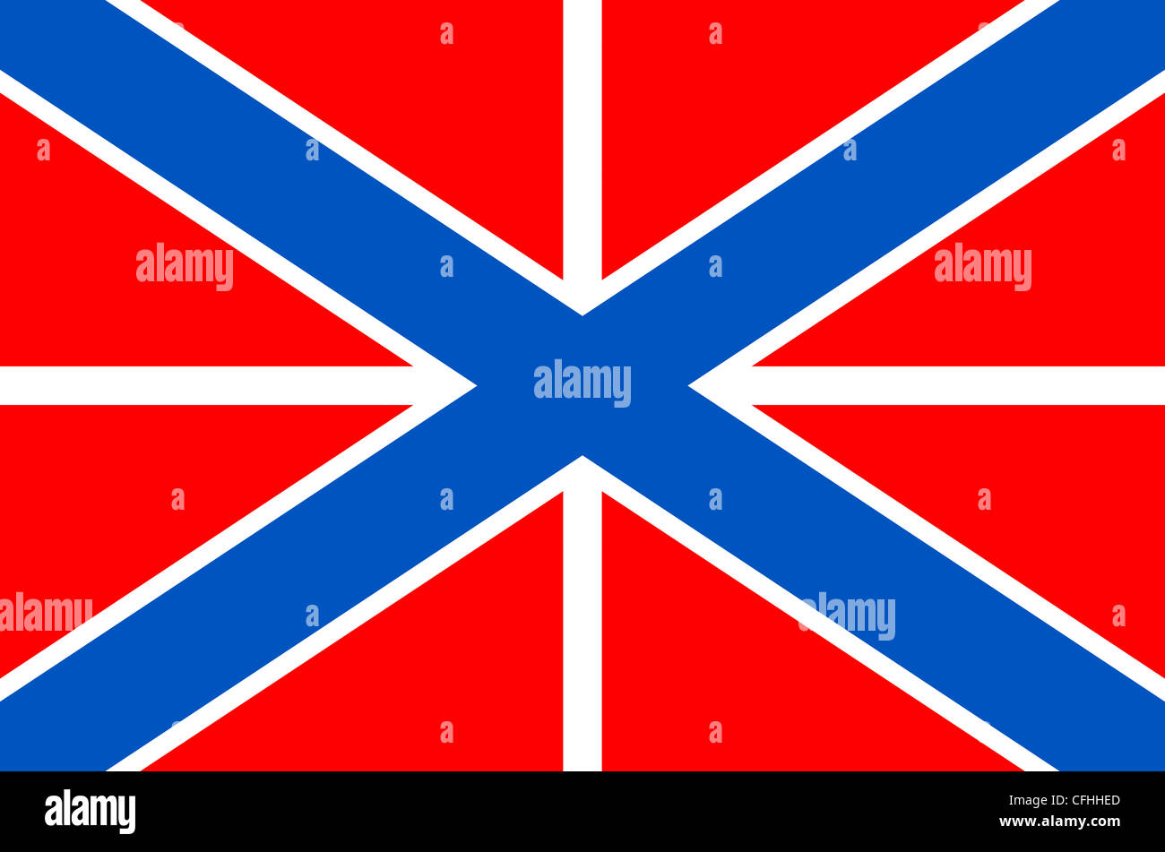 Naval Jack of the Russia Navy. - Stock Image