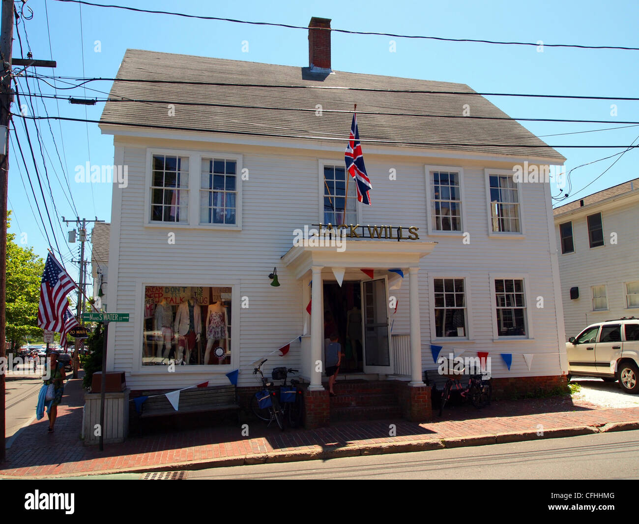 Successful British clothing company Jack Wills store in Edgartown, Marthas Vineyard, Cape Cod, USA - Stock Image