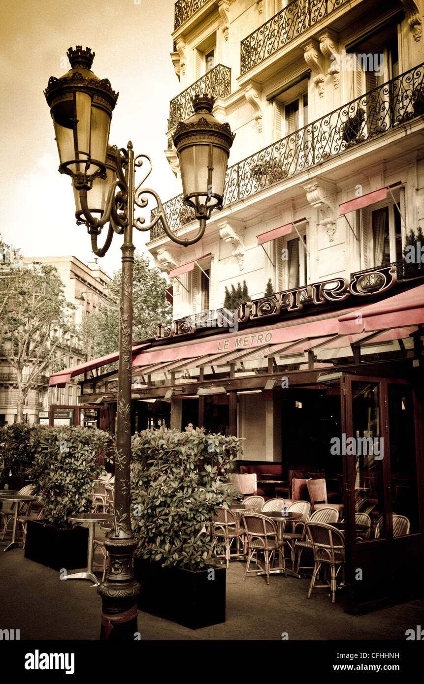 Le Metro Restaurant, Left Bank, Paris, France - Stock Image